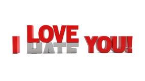 I Love You & I Hate You vector illustration