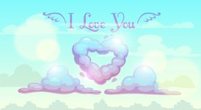 I love you illustration. Royalty Free Stock Photography