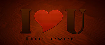 I love you. Inscription I love you for ever on a textured background stock photography