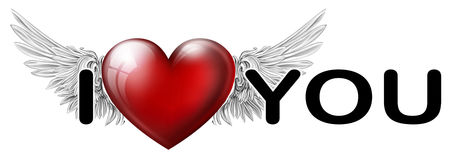 I love you inscription Stock Images