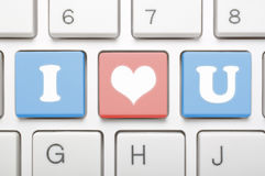 I love you on keyboard Stock Photos