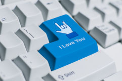 I love you keyboard sign Stock Images