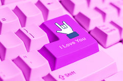 I love you keyboard sign Stock Image