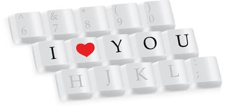 I love you keys Royalty Free Stock Images