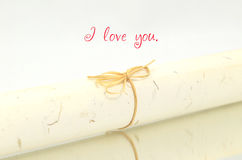 I love you - a letter for you Stock Photos