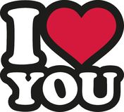 I love you - lettering cartoon. Vector Stock Photo