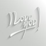 I Love You lettering Greeting Card Royalty Free Stock Photos