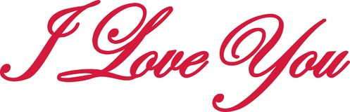 I love you lettering. Vector Royalty Free Stock Photo