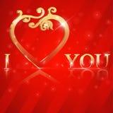 I Love You lettering stylish golden text. I have created I Love You lettering stylish golden text - vector eps10 stock illustration