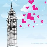 I love You London Poster Design Royalty Free Stock Photos