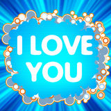 I Love You. love logo for lovers. EPS 8 Royalty Free Stock Photos