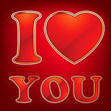 I love you is made of the gloss glass. EPS 8 Royalty Free Stock Photo