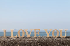 I LOVE YOU made of letters Stock Image