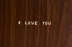 I love you made from pasta Royalty Free Stock Photography
