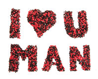 I love you man sign Stock Photo