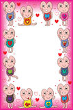 I love you mascot frame Stock Image