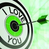 I Love You Me Target Shows Romance Stock Photo