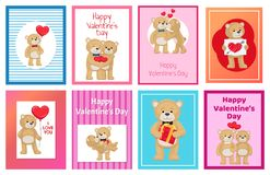 I Love You and Me Teddy Bears Vector Royalty Free Stock Photography