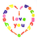 I love you message. I love you fridge magnet message Stock Photography