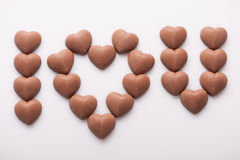 I love you message from candies Royalty Free Stock Photography