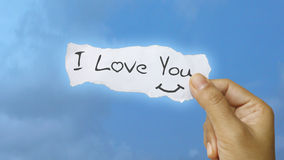 I love you. Message concept in raster format stock image