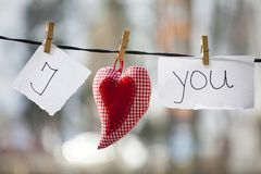 I love you message Stock Images