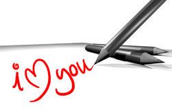 I love you message Royalty Free Stock Images