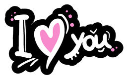 I love you message Stock Photo