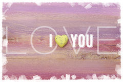 I Love You message for romance and valentines day Stock Images