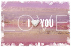 I Love You message for romance and valentines day Stock Photography