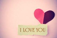 I love you message. Stock Photos