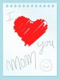 I love you mom Stock Image