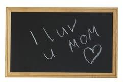 I LOVE YOU MOM! Royalty Free Stock Photos