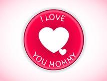 Free I Love You Mom Badge Stock Photography - 38740152