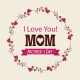 I love you mom card royalty free illustration