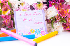 I Love You Mom! Happy Mother's Day! Royalty Free Stock Images
