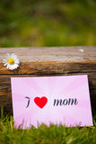 I love you mom Royalty Free Stock Images