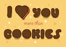 I love you more than Cookies Stock Photo