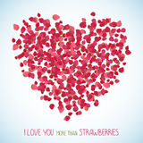 I love you more than strawberries. Copy space. Stock Images