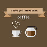 I love you more then coffee. Royalty Free Stock Images