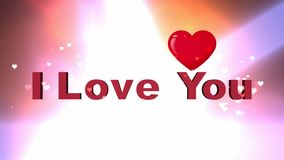 I Love You. Moving hearts. stock video footage