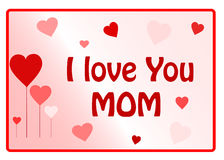 I Love You Mum Stock Images