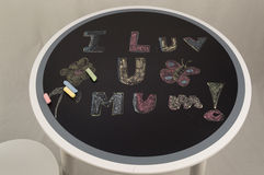 I Love You Mum. A lovely message from a daughter to her mum Royalty Free Stock Photography