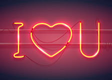 I love you neon2-01 Stock Photos