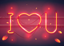 I love you neon2-02 Stock Images