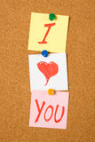 I love you note Royalty Free Stock Photography