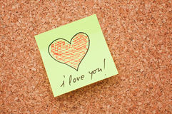 I love you - note Stock Images