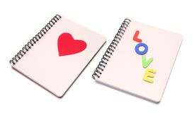 I Love You Note Books Stock Photography
