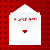 I love you note, heart background Stock Photos