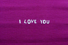 I Love you note Royalty Free Stock Photo
